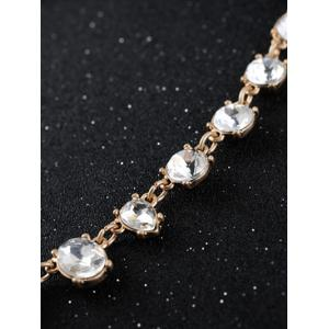 Faux Crystal Water Drop Necklace -