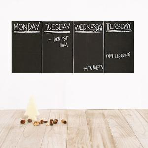 4 PCS Removable Blackboard Wall Stickers -