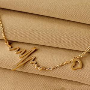 Name Heartbeat Pendant Necklace110 -