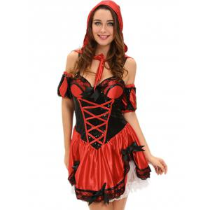 Hooded Bowknot Cosplay Costume -