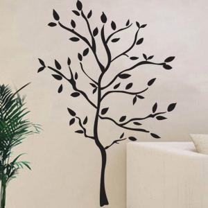 Removable Protection Small Tree Vinyl Wall Decal Stickers - BLACK
