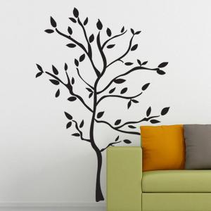 Removable Protection Small Tree Vinyl Wall Decal Stickers -