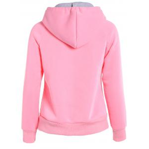 Popular Double Hooded Drawstring Hoodie - PINK 2XL