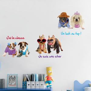 Removable 3D Pet Dogs Wall Stickers Animals -