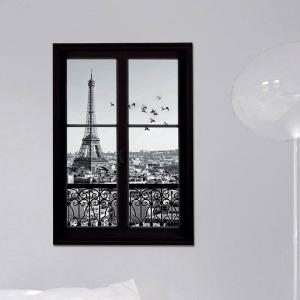 Removable 3D Stereo Eiffel Tower Upstair Window Design Wall Stickers -