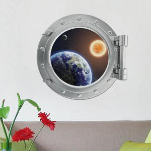 Removable 3D Space Capsule Planet Design Wall Stickers -