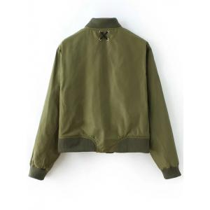 Lacing Bomber Jacket - ARMY GREEN L