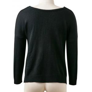 Pullover Cross Sweater - BLACK ONE SIZE