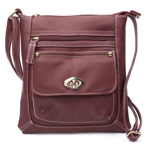 Hot Fashionable Hasp and Solid Color Design Women's Crossbody Bag