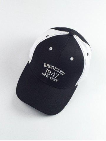Shops Year Numbers and Letters Embroidery Color Block Baseball Hat