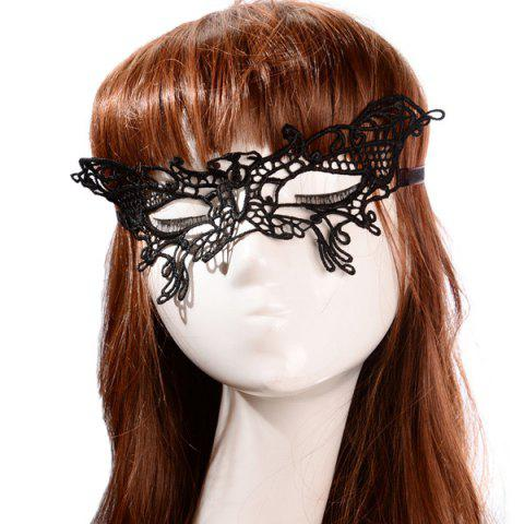 New Butterfly Hollow Out Party Mask - BLACK  Mobile