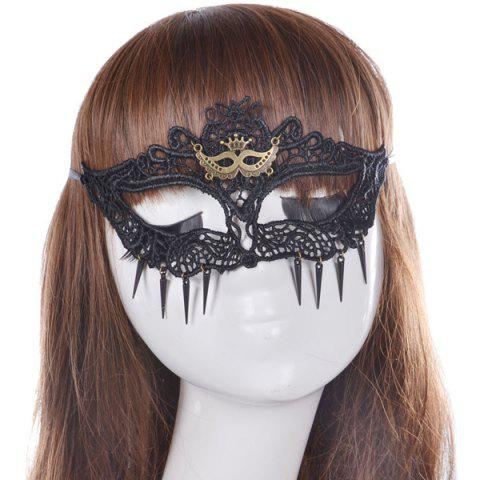 New Faux Lace Crown Hair Accessory Party Mask BLACK