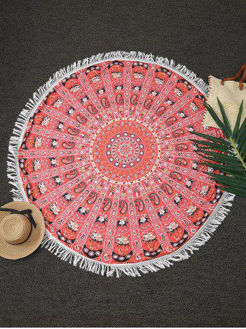 Cheap Tassels Print Beach Throw