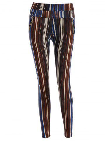 Buy Stripe Pattern Empire Pants STRIPE ONE SIZE