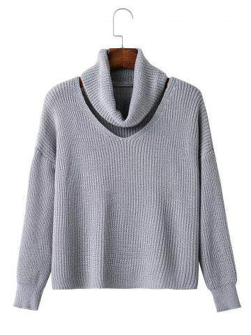 Outfit Hollow Out Textured Knitted Sweater