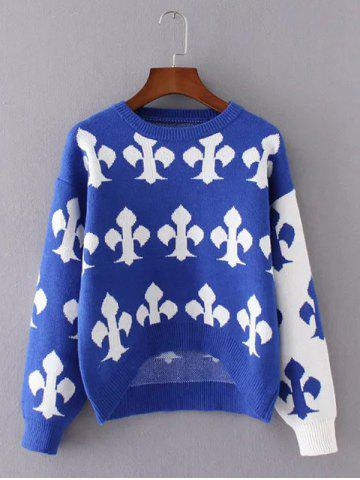 Best Knitted Patterned Jacquard Spliced Sweater