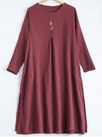 Trendy Embroidery Loose Dress