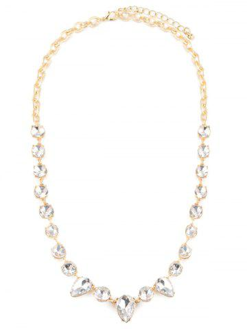Shop Faux Crystal Water Drop Necklace