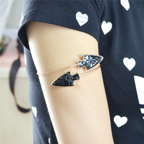 Fashion Vintage Alloy Arrowhead Arm Chain Jewelry - GOLDEN  Mobile