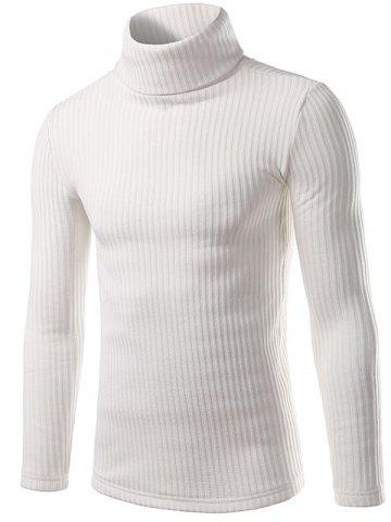 Discount Turtle Neck Slimming Long Sleeve Knitting Sweater