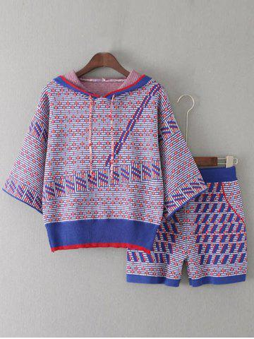 Sale Hooded Knitwear and Patterned Jacquard Shorts Twinset
