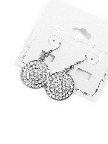 Unique Rhinestone Alloy Round Drop Earrings