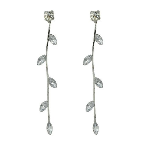Best Rhinestone Faux Crystal Tree Leaf Earrings