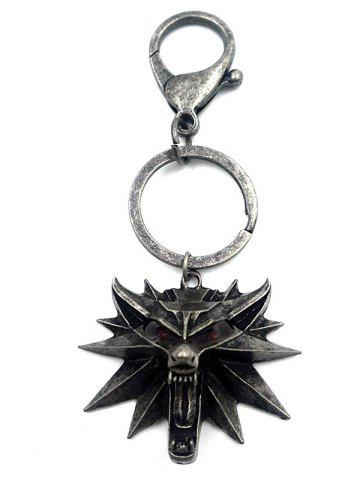 Trendy Alloy Wolf Head KeyRing -   Mobile