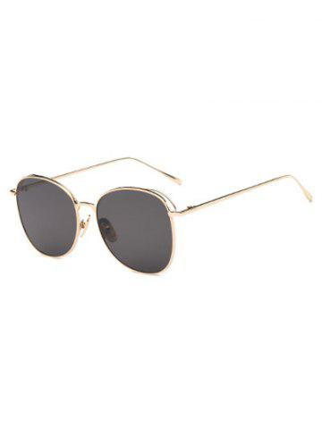 Fancy Joy-Ride Irregular Square Metal Sunglasses
