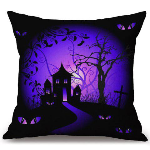 Sale Halloween Horror Night Printed Decorative Pillow Case COLORMIX