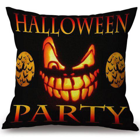 Affordable Soft Happy Halloween Party Printed Decorative Pillow Case COLORMIX