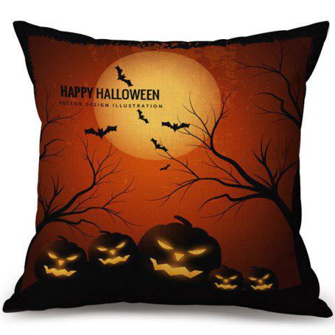 Online Happy Halloween Pumpkins Printed Pillow Case