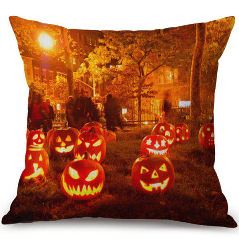 Fashion Happy Halloween Pumpkins Ghost Printed Pillow Case COLORMIX