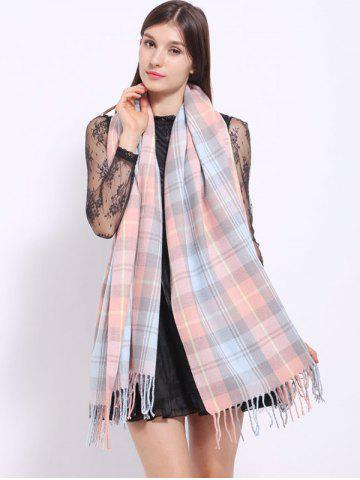 Shops Autumn Small Plaid Pattern Tassel Shawl Wrap Scarf