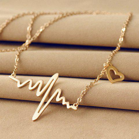 Shop Name Heartbeat Pendant Necklace110 CHAMPAGNE GOLD