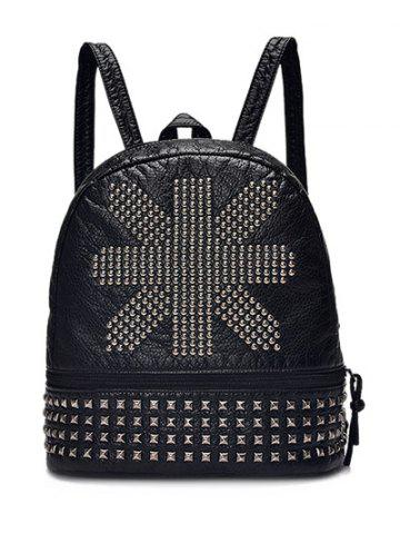 Online Punk Rivet PU Leather Backpack