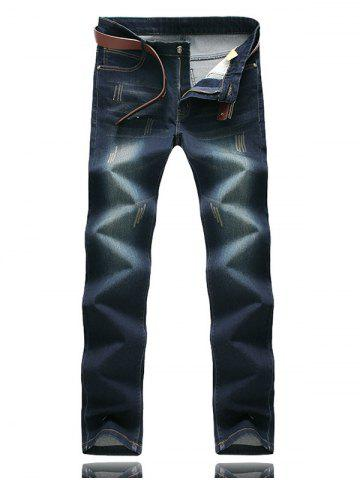 Buy Zipper Fly Five-Pocket Scratched Jeans