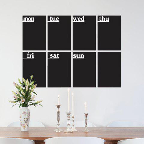 Fancy 8 PCS Removable Blackboard Wall Stickers - BLACK  Mobile