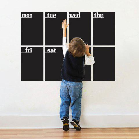 Outfit 8 PCS Removable Blackboard Wall Stickers - BLACK  Mobile