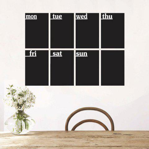 Outfits 8 PCS Removable Blackboard Wall Stickers - BLACK  Mobile