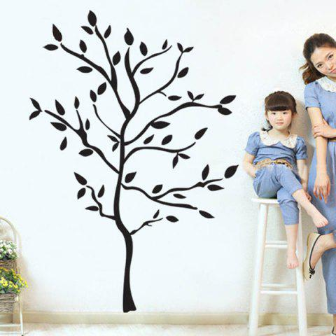 Fancy Removable Protection Small Tree Vinyl Wall Decal Stickers - BLACK  Mobile