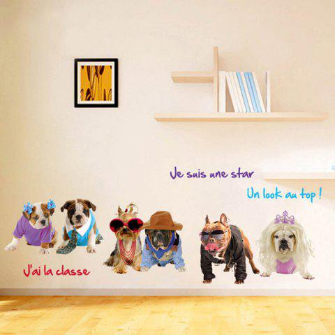 Sale Removable 3D Pet Dogs Wall Stickers Animals