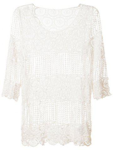 Trendy Hollow Out Smock Cover-Up