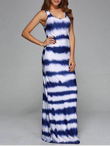 Outfit Scoop Neck Tie-Dye Maxi Dress