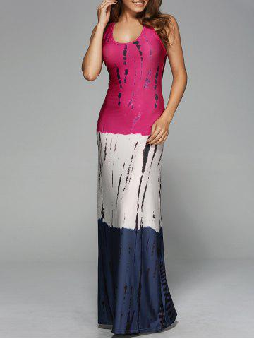 Trendy Stripes Ombre Casual Fitted Maxi Tank Dress COLORMIX XL