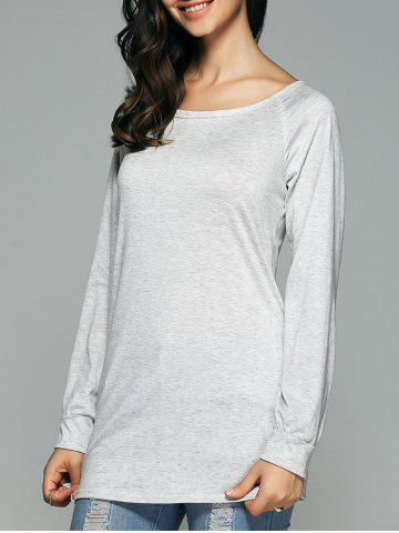 Unique Open Back Long Sleeve T-Shirt