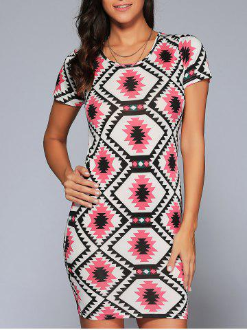 Store Geometric Print Bodycon Dress