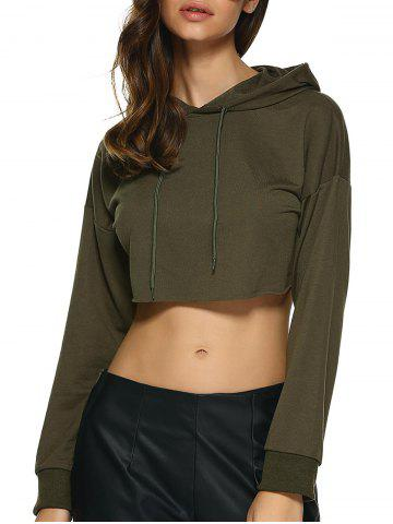 Emerald Green Cropped Hoodie - £30 and Under - Sale - Miss ...  Green Cropped Hoodie