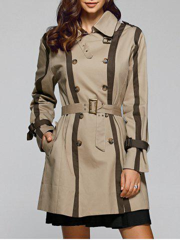 Store Double Breasted Trench Coat With Pockets