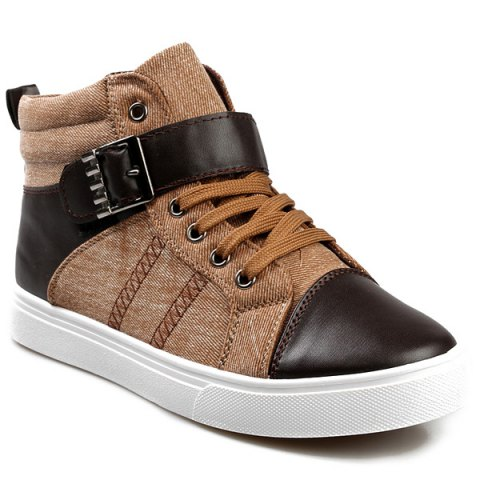 New Tie Up Buckle Denim Casual Shoes